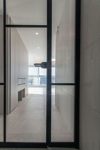 Empty corridor of building