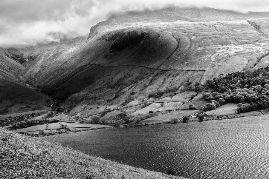 B&w Black & White Cloud Cloud - Sky Cloudy Day Geology Lake Lake District Landscape Mountain Mountain Range Nature Non-urban Scene Outdoors Remote Rock - Object Rock Formation Scenics Sky Tranquil Scene Tranquility Water