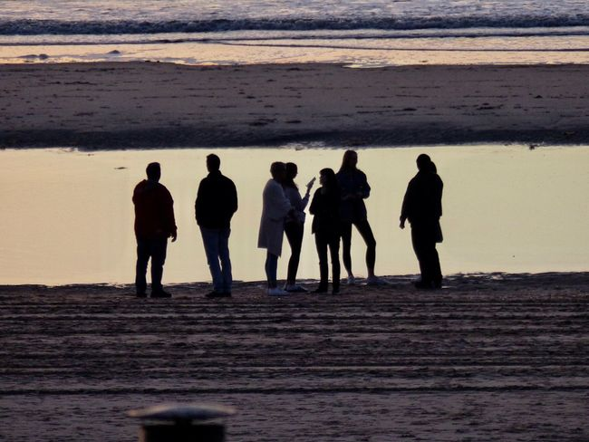 Group Of People Real People Land Nature Full Length Men Day Lifestyles Silhouette