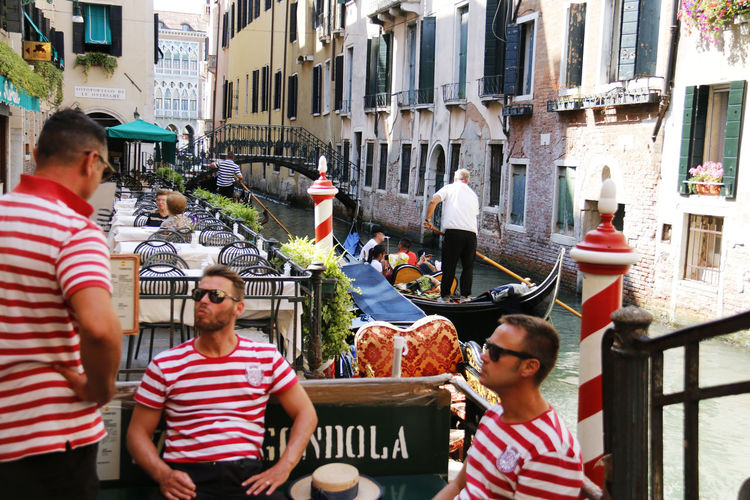 Boat Canal City Famous Place Gondola Gondole In Venice Italy Mode Of Transport Resting Rowing Taking A Break Tourism Tourist Destination Transportation Venice Waterway Wter
