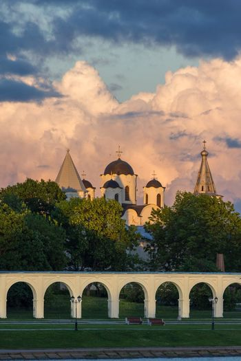 Veliky Novgorod EyeEm Selects Politics And Government Tree City Dome Sunset Place Of Worship History Summer Cityscape Sky Castle Medieval Ancient Storm Cloud Aged Cathedral Cupola