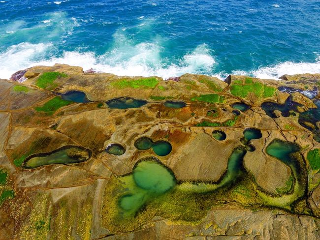 Rock Formation Rocks And Water Outdoor Photography From Above  Droneshot Drone Moments Travel Destinations Birds Eye View Drones Drone  Bestoftheday EyeEmBestPics EyeEm Best Shots - Nature Beauty In Nature Eye4photography  EyeEm Nature Lover EyeEm Gallery EyeEm Best Shots Australian Landscape Australia & Travel Rockpools Flying High Flying High