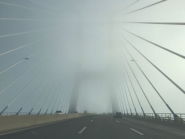 Fog Foggy Bridge The Way Forward Transportation Road Connection Day Outdoors No People Architecture