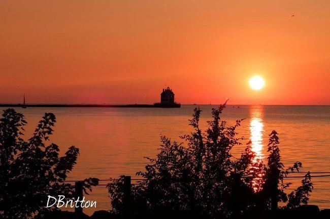 Enjoying The Sun Lorain Lighthouse Sun_collection Water_collection