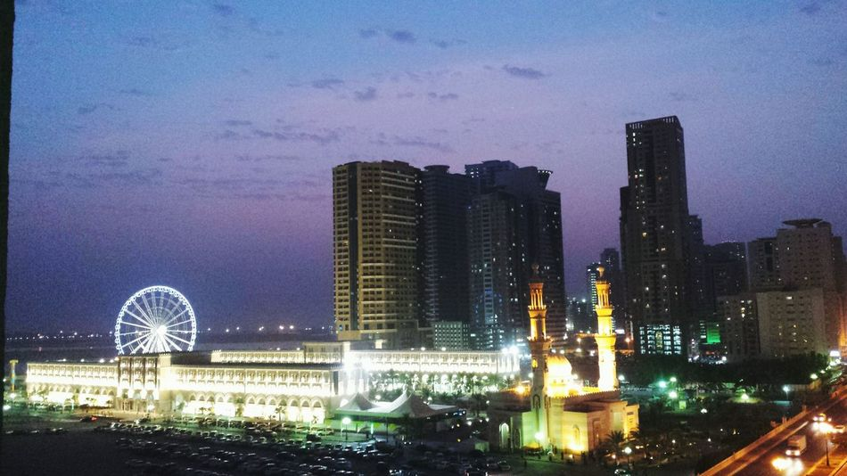 Sharjah Alqasba Eveningtime Capturing The Moment Viewfrombalcony <3 Justcantgetenough Landscapes With WhiteWall