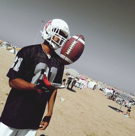 The definition of strength and power is football ?? American Football Sport Time Motivated Black & Silver