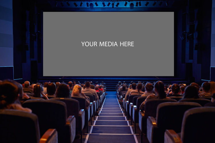 Audience Auditorium Business Cinema Empty In A Row Insert Modern MOVIE People Play Presentation Projection Screen Screen Show Staircase Stairs