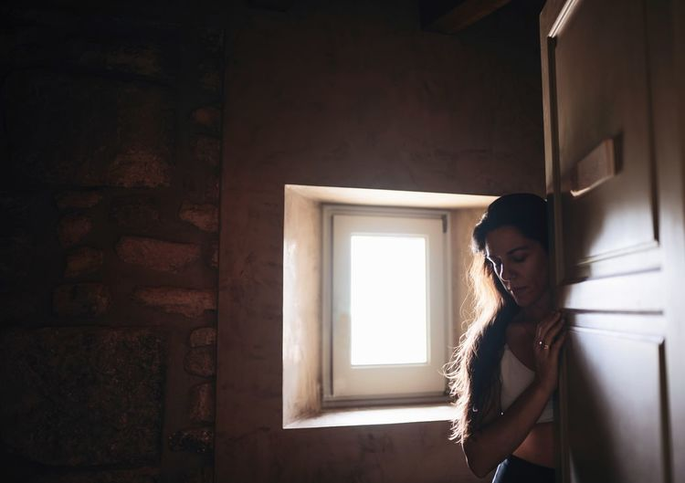 Door Indoor Woman Sad Lonely Window Shadow Shadows & Lights