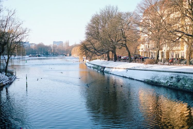 Cold Temperature Winter Snow Nature Outdoors Water No People Beauty In Nature Canal Bare Tree
