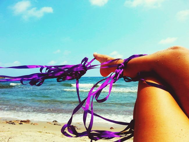 On The Beach Play Time Enjoying Life Relaxing