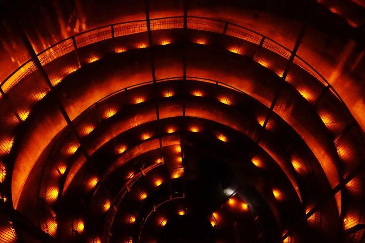 Illuminated Pattern No People Night Glowing Lighting Equipment Orange Color