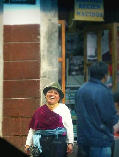 Taken with a phone through the window of a moving car, so the quality isn't the best, but that smile! Humaninterest Photography Travel Photography Aroundtheworld Ecuador South America Candid Candid Photography Candid Portraits Humans Of Earth Travel Human Smile Laughing Happy Happy People Portrait Joy Woman Portrait Of A Woman
