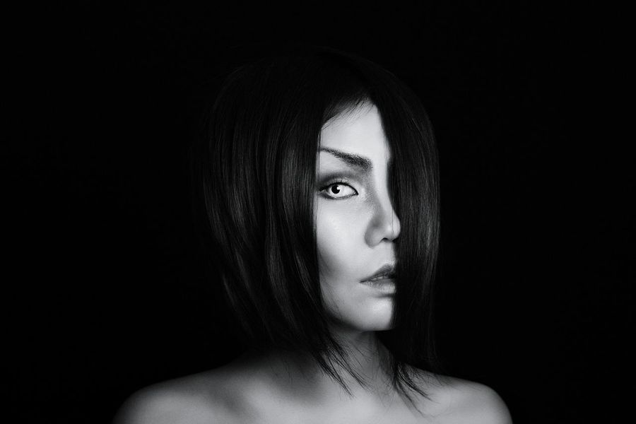 Portrait Asian Girl Horror Halloween Horrors Makeupartist Makeup Photography Якутск That's Me Black & White
