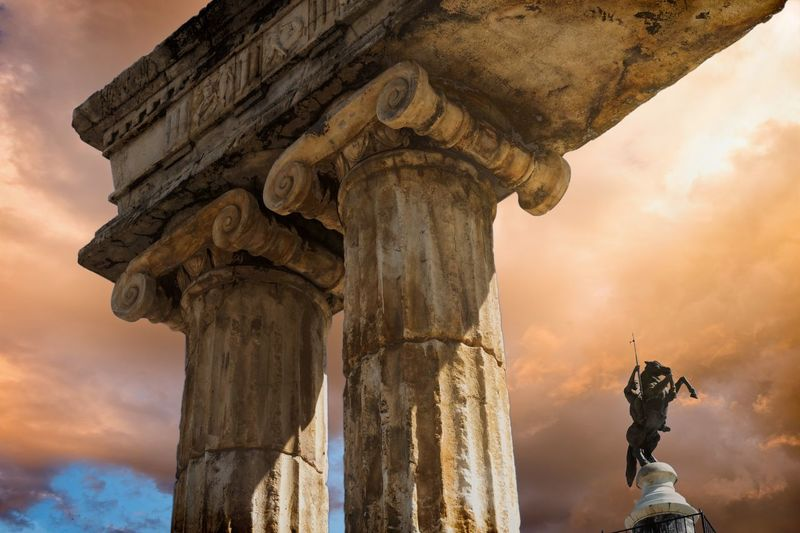 The beauty of historical remnants capture our imagination and connect us to something bigger and beyond ourselves.......... Heritage Marble Historical Building History Roman Architecture Sculpture Statue Art And Craft Representation Architecture Sky Human Representation Built Structure History Sunset