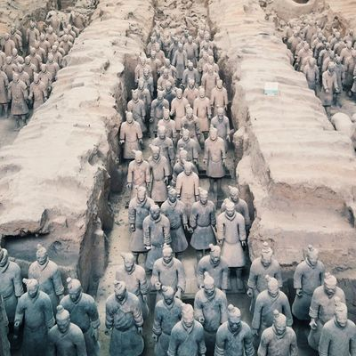 Emperor Qin had the Terracottawarriors and Horses built to take with him into the afterlife. Grateful I got to visit this incredible archeological site. Xian China Travel 365grateful