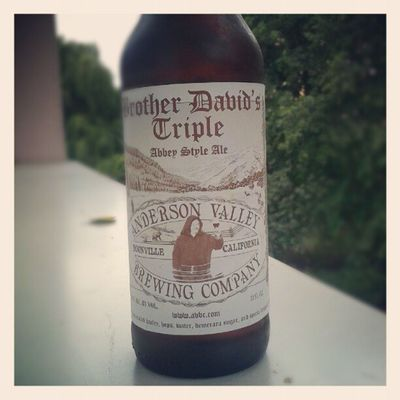 The label Beer Alcohol Us Trappist Triple