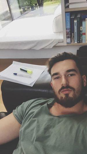 Study hard 😂😂 Throwback Snapchat Hair Beautiful Beard Today's Hot Look That's Me Followme Cute Fitness