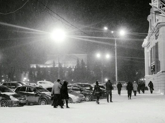 Теплый снегопад Street Black&white Snow ❄ Streetphotography Novosibirsk