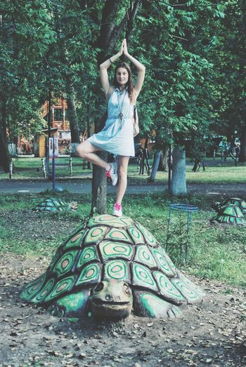 Full Length Tree One Person Smiling Happiness Front View Outdoors Day Childhood Looking At Camera Portrait People One Girl Only Cheerful Girls Real People Standing Child Young Adult Adult Россия лиська медитация парк НижнийНовгород Lost In The Landscape Been There. Done That. EyeEmNewHere