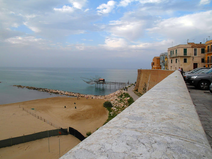 Term the beach and the trabucco Termoli  Wall Architecture Beach Building Exterior Building Story Buildings Built Structure City Cloud - Sky Clouds And Sky Horizon Over Water Italy Landscape Molise Outdoors Scenics Sea Sky Termoli City Trabucco Travel Destination Urban Landscape Water