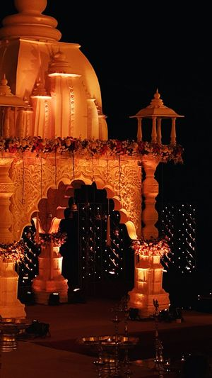 Shades Of Yellow Indian Wedding Solemn Spiritual Light In The Darkness Ceremony Wedding Wedding Photography Wedding Decoration