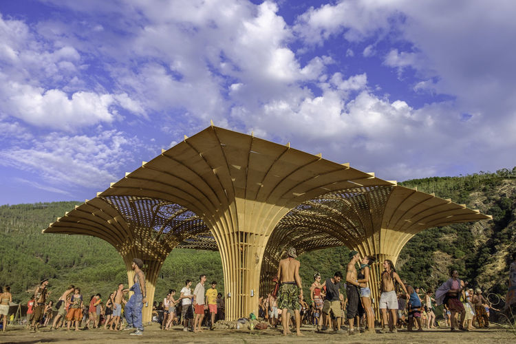 Main stage on Lost Theory 2016, also known as DUST THEORY. Architecture Cloud - Sky Crowd Dancing Event Events Festival Hippie Horizontal Large Group Of People Lost Theory Lost Theory 2016 Low Angle View Party People Psychedelic Psytrance Psytrancefestival Sky