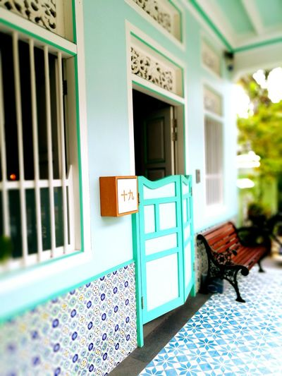 Entrance Door Built Structure Building Exterior Architecture Letter Box Doorway Shophouse Multi Colored Traditional