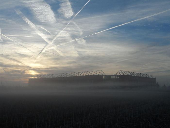 Colors Harvest Season Stadium Fog No People Sky Sun