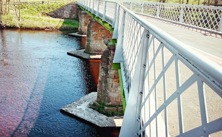Bridge Man-made Structure River Crossing Metal And Stonework Countryside Road Bridge Sunny Day