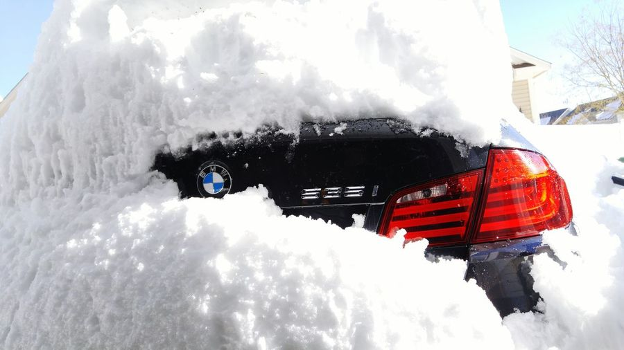 Bmw F10 Snow Covered LG G4 Its Cold Outside