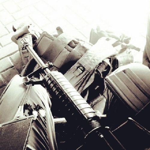 Army Israel Israeligirls Prettygirls russiangirls russian cute blackandwhite M16 winter שומרת:'(