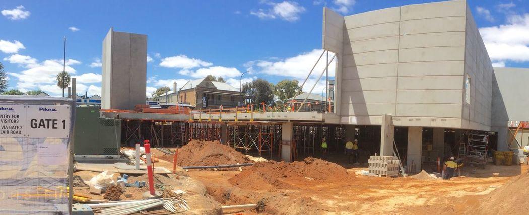 New local Aldi. 1 month later. Construction Site Architecture