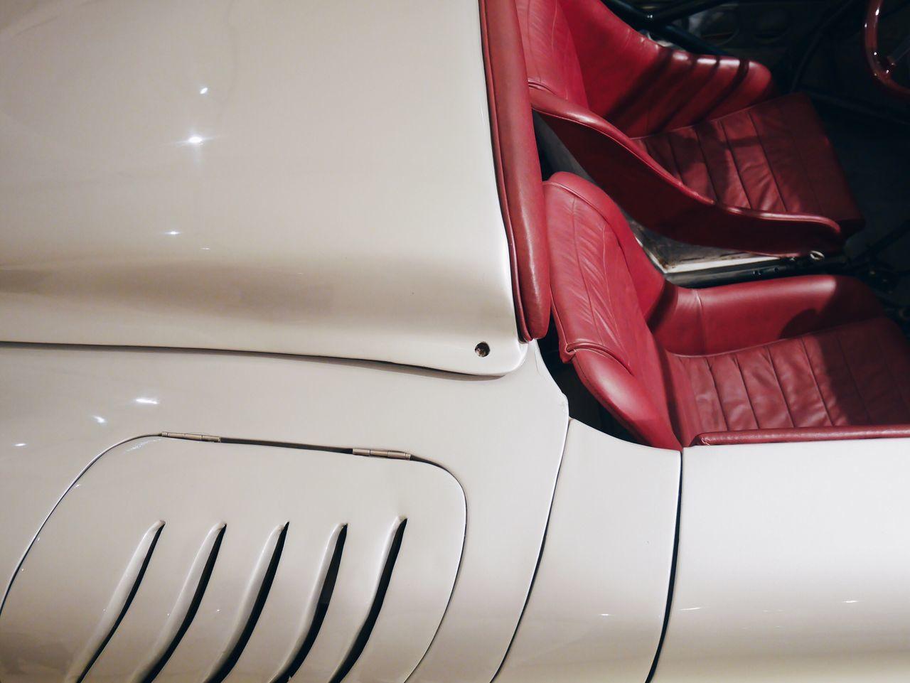 Full frame shot of white vintage car