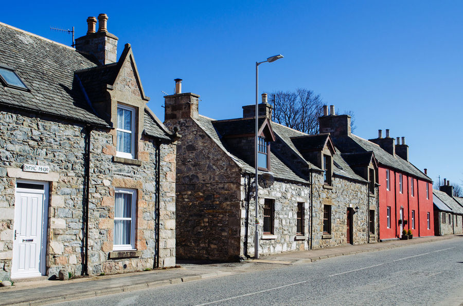 Architecture Building Exterior Built Structure No People Old Buildings Old Town Outdoors Red Scotland Scottish Highlands Street Travel Village