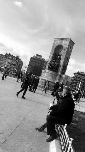 Taksim Istanbul Turkey City Blackandwhite WOW