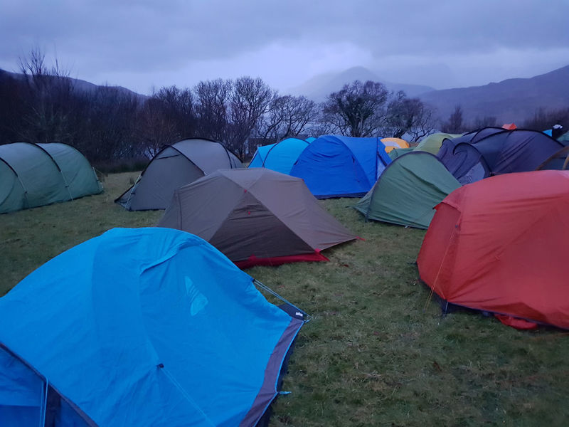 Camp Site Camping Field Mountain Outdoors Tent Village