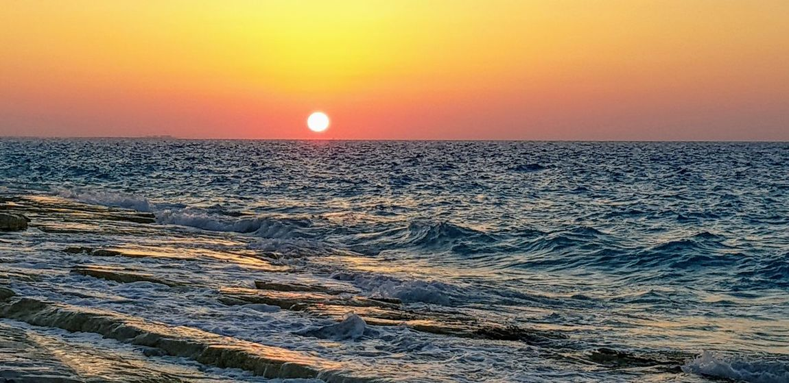 North coast, Alexandria ,Egypt Astronomy Water Sea Sunset Beauty Horizon Astrology Sign Awe Sun Sunlight Seascape Romantic Sky Dramatic Sky Dramatic Landscape Calm