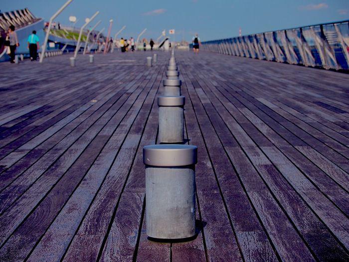 Bollards On Boardwalk