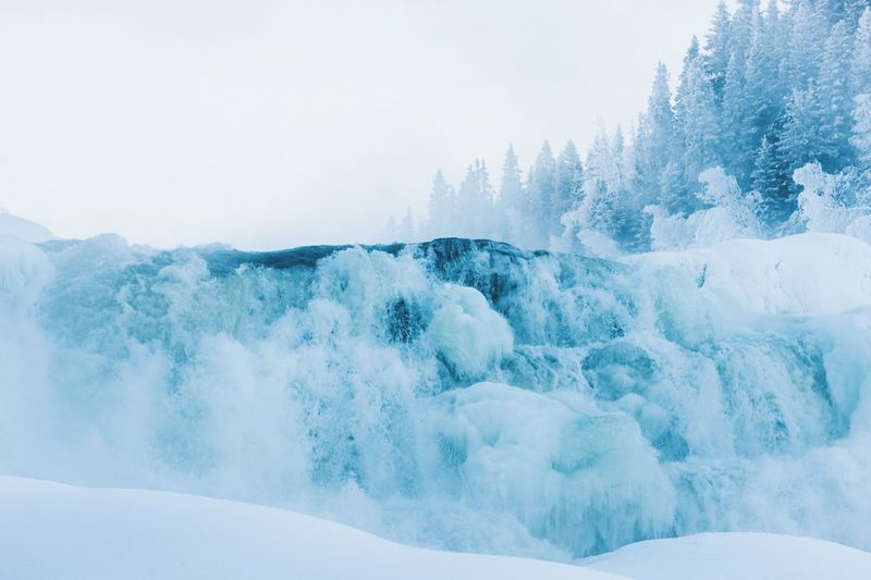 Cold Waterfall Cold Winter ❄⛄ Cold Temperature Cold Photographer Photography Photo EyeEm Selects Beauty In Nature Nature Scenics Motion Winter No People Cold Temperature Tranquility Tranquil Scene Frozen Snow Day Power In Nature Outdoors Clear Sky Water Iceberg Wave Sky