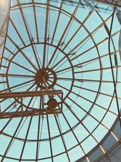 Schlossstraßencenter SSC Berlin Low Angle View Pattern Built Structure Architecture No People Full Frame Shape Backgrounds Day Sky Directly Below Metal Outdoors Geometric Shape Art And Craft Building Exterior Circle Design Nature Dome