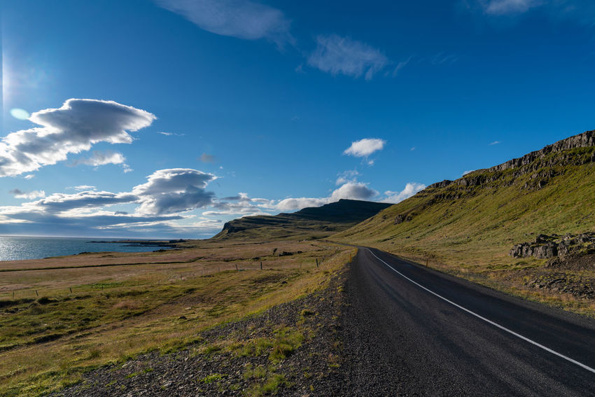 Iceland Backgrounds Beautifuliceland Beauty In Nature Cloud - Sky Day Direction Environment Idyllic Land Landscape Mountain Nature No People Non-urban Scene Outdoors Remote Road Scenics - Nature Sky The Way Forward Tranquil Scene Tranquility Transportation My Best Travel Photo Holiday Moments