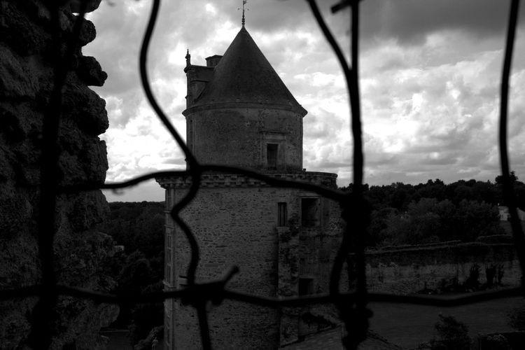 The secret castle. Apremont, Vendée. Castles Travel Village Black & White