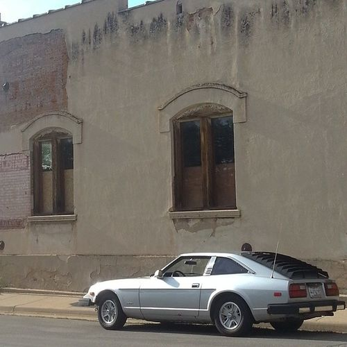 Just out for a stroll with my Classiccar Datsun 280ZX Cityscapes Vintage Cars Urban Geometry No Edit/no Filter Urbanphotography Classic Beauty