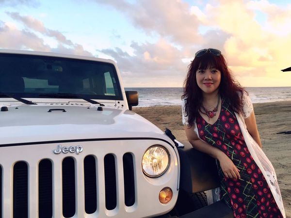 Hawaii Sunset Sky Mode Of Transportation Real People Land One Person Transportation Leisure Activity Women Nature Car Casual Clothing Front View Beach Land Vehicle Water Lifestyles Outdoors Cloud - Sky Motor Vehicle Day