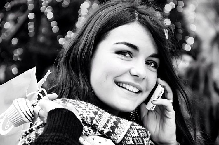 Portrait Of A Friend Enjoying Life Sister Monochrome Blackandwhite