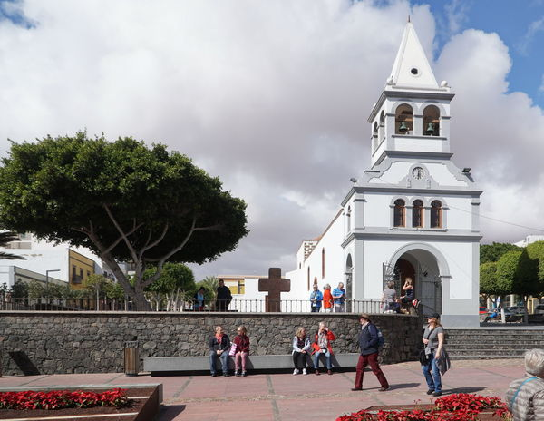 Pdr5 Church Fuerteventura Puerto Del Rosario Adult Architecture Building Exterior Built Structure Cloud - Sky Day Large Group Of People Leisure Activity Men People Place Of Worship Real People Religion Sky Spirituality Travel Destinations Tree Vacations Women