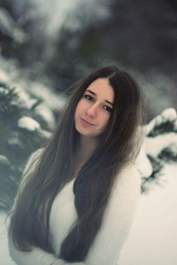 Beautiful Woman Women Winter Long Hair First Eyeem Photo