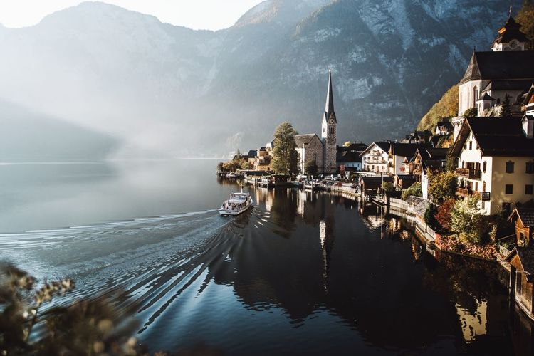 Lake By Buildings