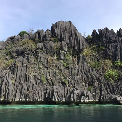 #beach Water Sky Nature Beauty In Nature No People Plant Scenics - Nature Rock Mountain Formation Land Sea
