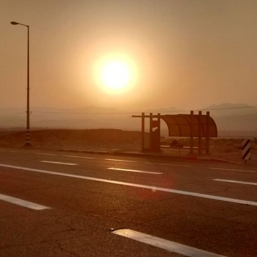 Amazing sunrise after spending the night on that bus station! Country Road Dead Sea  Empty Israel Judean Desert Massala Road Sunrise First Eyeem Photo